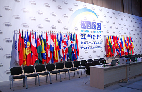 Flags at the OSCE Assembly
