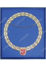 Titled badge of honor (collar) case with a flocked lodgment