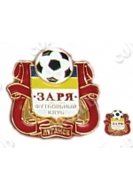 Emblem of football club 'Zarya' Lugansk, valid till 2011