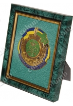 Framed Ukrainian Customs Servise emblem