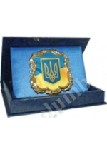 'Small coat of arms of Ukraine' standard formed souvenir 'cartouche'