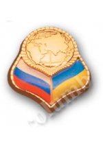 'Ukraine & the Russian Federation' badge of a standard form 'globe'