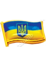 Small coat of arms of Ukraine' coined badge