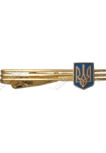 Tie clip with an add-on element 'Small coat of arms of Ukraine'