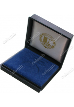 Medal case with corporate logotype application on the cover