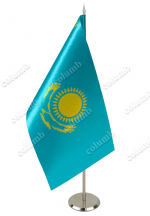Flag of Kazakhstan on a stand