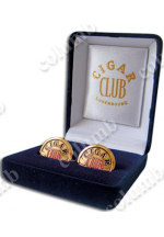 "Cufflinks ""Cigar Club"" in case"