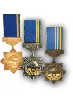 'Railway distinctions' medals of Ukrainian Railway Service