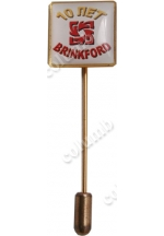'10 years Anniversary of BRINKFORD' badge