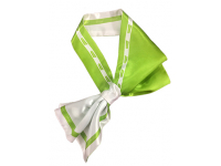 French tie (neck scarf) Greenway two-layer stitched satin A1